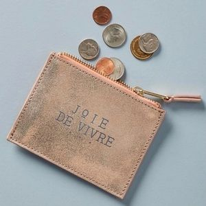 Anthropologie Wallet - Pouch - Leather - Metallic